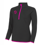 Quality sportswear ladies zip top